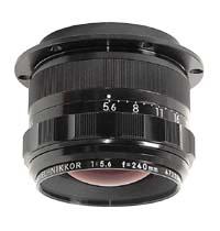 """EL-Nikkor 240mm f5.6 Enlarging Lens for 8""""x10"""" Negatives - Used"""