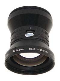 "Rodenstock Rodagon 360mm f6.3 Enlarging Lens for 10""x12"" Negatives - Used"