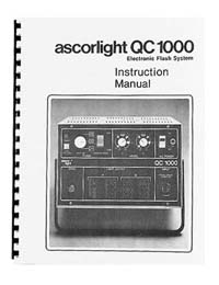 Ascorlight QC-1000 Flash System Instruction Manual