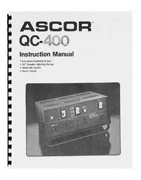 Ascorlight QC-400 Flash System Instruction Manual