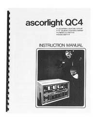 Ascorlight QC-4 Flash System Instruction Manual