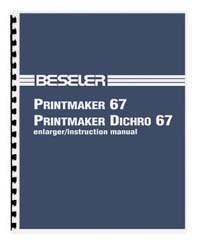 Beseler Printmaker 67 Enlarger Instruction Manual