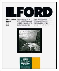 Ilford Multigrade IV RC Paper - 8x10 Satin, 100 sheets