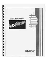 Kostiner Easel & Pen-Line Liner Instruction Manual