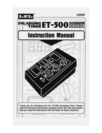 Instruction Manualfor the LPL ET-500 Digital Enlarging Timer