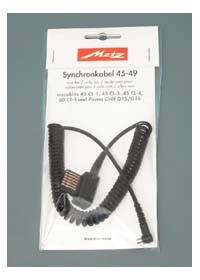 Coiled Sync Cord for Metz 45 CT/CL series and 60CT-4 Flash Units