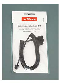 Coiled Sync Cord for Metz Mecablitz 45 CT-1 Flash Units