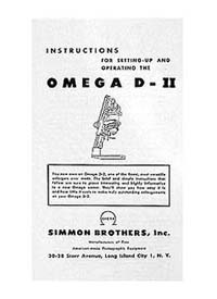 Omega D-II 4x5 Condenser Enlarger Manual