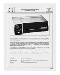 Instructions for the Chromega 100 RC Print Dryer