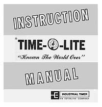 Instruction Manual for Time-O-Lite Darkroom Timers