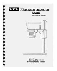 LPL 6600 6x6 Condenser Enlarger Instruction Manual