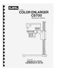 LPL 6700 6x7 Dichroic Colour Enlarger Instruction Manual