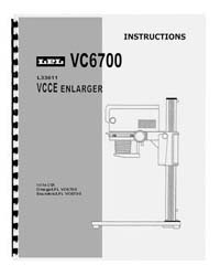 LPL VC6700 6x7 VCCE Enlarger Instruction Manual
