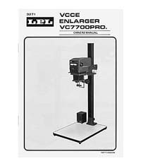 LPL VC7700 6x7 VCCE Enlarger Instruction Manual