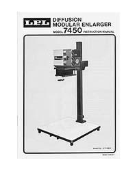 LPL Model 7450 Modular 4x5 Enlarger Instruction Manual