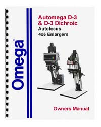 Omega D3 Automega D-3 Enlarger Manual - Revised and Expanded