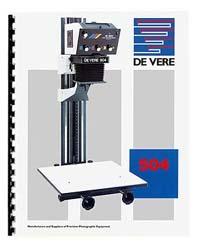 De Vere / DeVere 504 4x5 Enlarger Instruction Manual