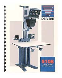De Vere / DeVere 5108 8x10 Enlarger Instruction Manual