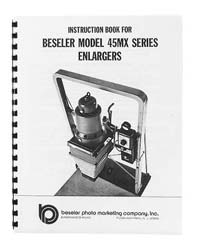 Beseler 45MX / 45MCRX Enlarger Instruction Manual