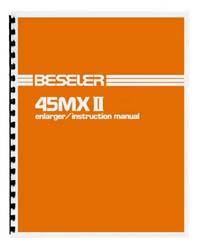 Beseler 45MXII 45MX II 4x5 Enlarger Instruction Manual