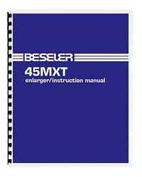 Beseler 45MXT 4x5 Enlarger Instruction Manual