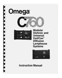 Omega C760 Dichroic Lamphouse Instruction Manual