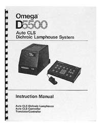 Omega D5500 CLS Dichroic Lamphouse Instruction Manual