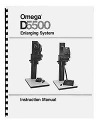 Omega D5500 4x5 Enlarger Instruction Manual