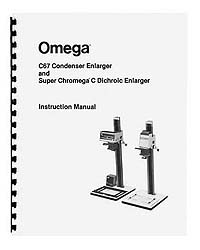 Omega C67 C-67 and Super Chromega C Dichroic Enlarger Manual
