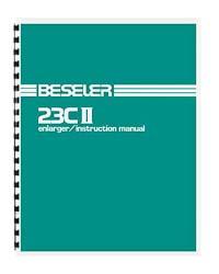 Beseler 23CII 23C II (mid style) Enlarger Instruction Manual