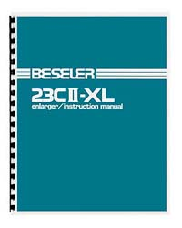 Beseler 23C II-XL (late style) Enlarger Instruction Manual