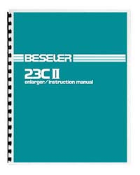 Beseler 23C-II (early style) Enlarger Instruction Manual