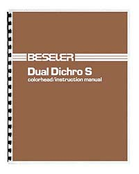 Beseler Dual Dichro S Colorhead Instruction Manual