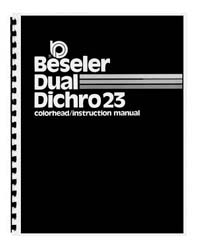 Beseler Dual Dichro 23 Colorhead Instruction Manual