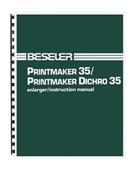 Beseler Printmaker 35 Enlarger Instruction Manual