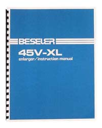 Beseler 45V-XL 4x5 Enlarger Instruction Manual