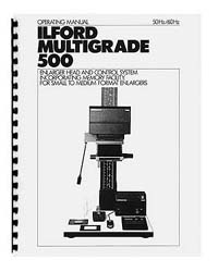 Ilford Multigrade 500 Instruction Manual (late)