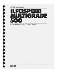 Ilford Multigrade 500 Instruction Manual (early)