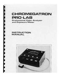 Omega Chromegatron Pro-Lab Color Analyzer Instruction Manual