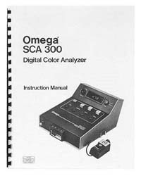 Omega SCA-300 Color Analyzer Instruction Manual