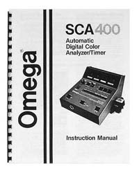 Omega SCA-400 Color Analyzer Instruction Manual