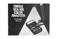 Omega SCA-100 Color Analyzer Instruction Manual