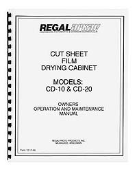 Arkay CD-10 / CD-20 Film Drying Cabinet Owners Manual