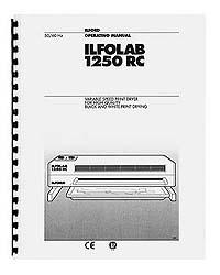 Ilford Ilfolab 1250 RC Print Dryer Instruction Manual