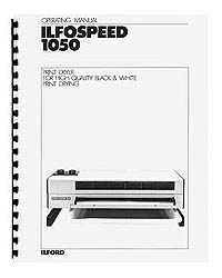 Ilford Ilfospeed 1050 RC Print Dryer Instruction Manual