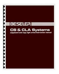 Beseler CS & CLA Copy Stand / Lights Instruction Manual
