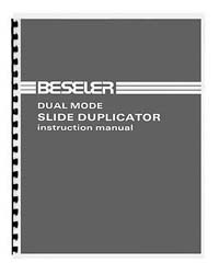 Beseler Dual Mode Slide Duplicator Instruction Manual
