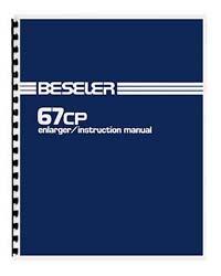 Beseler 67CP Enlarger Instruction Manual