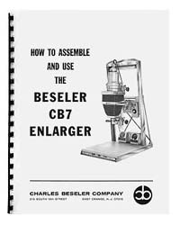 Beseler CB7 (early model) Enlarger Instruction Manual