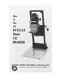 Beseler 23C Enlarger (early model) Instruction Manual